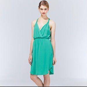 Wilfred Aritzia turquoise draped Taleen dress XXS